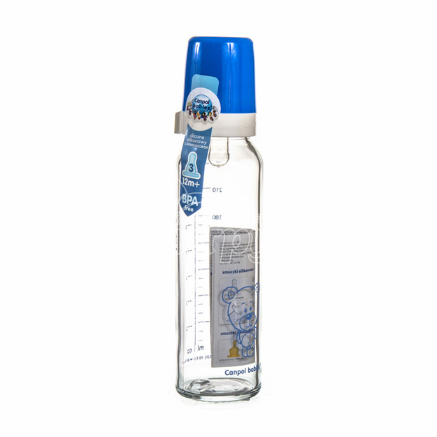 Бутылочка Канпол (Canpol) с рисунком и соска силиконовая с 12 месяцев 240 мл