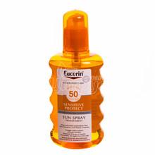Эуцерин Сенсетив Протект (Eucerin Sensetive Protect) Спрей солнцезащитный прозрачный SPF 50 200 мл