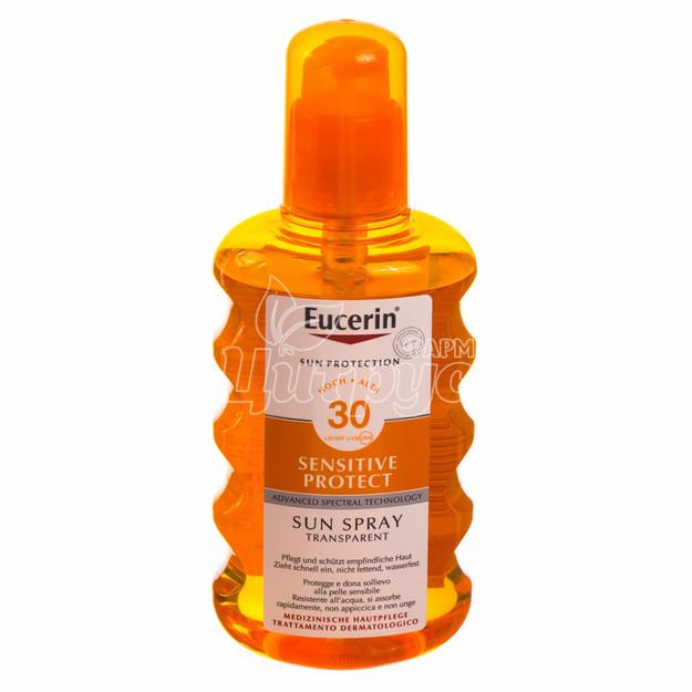 Эуцерин Сенсетив Протект (Eucerin Sensetive Protect) Спрей солнцезащитный SPF 30 200 мл