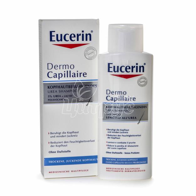 Эуцерин Дермо Капилляр (Eucerin Dermo Capillaire) Шампунь против перхоти увлажняющий для сухой кожи 250 мл