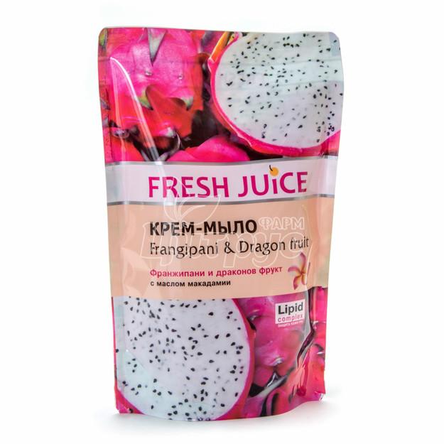Крем-мыло жидкое Фреш Джус (Fresh Juice) Франжипани и драконов фрукт (Frangipani & Dragon fruit) Дой пак 460 мл