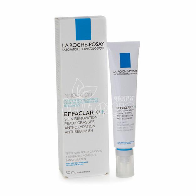 Ля Рош Позе Эфаклар К (La Roche Posay Effaclar К) Средство для ухода за комбинированой и склонной к жирности кожи лица 30 мл