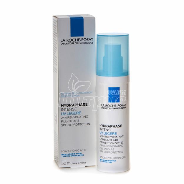Ля Рош Позе Гидрафаз Интенс UV Лайт (La Roche Posay Hydraphase) Крем интенсивный увлажняющий для Нормальной комбинированой кожи лица SPF 20 50 мл