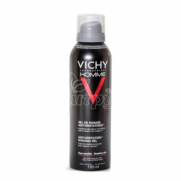 Виши Ом (Vichy Homme) Гель-крем для бритья для чувствительной кожи аэрозоль 150 мл