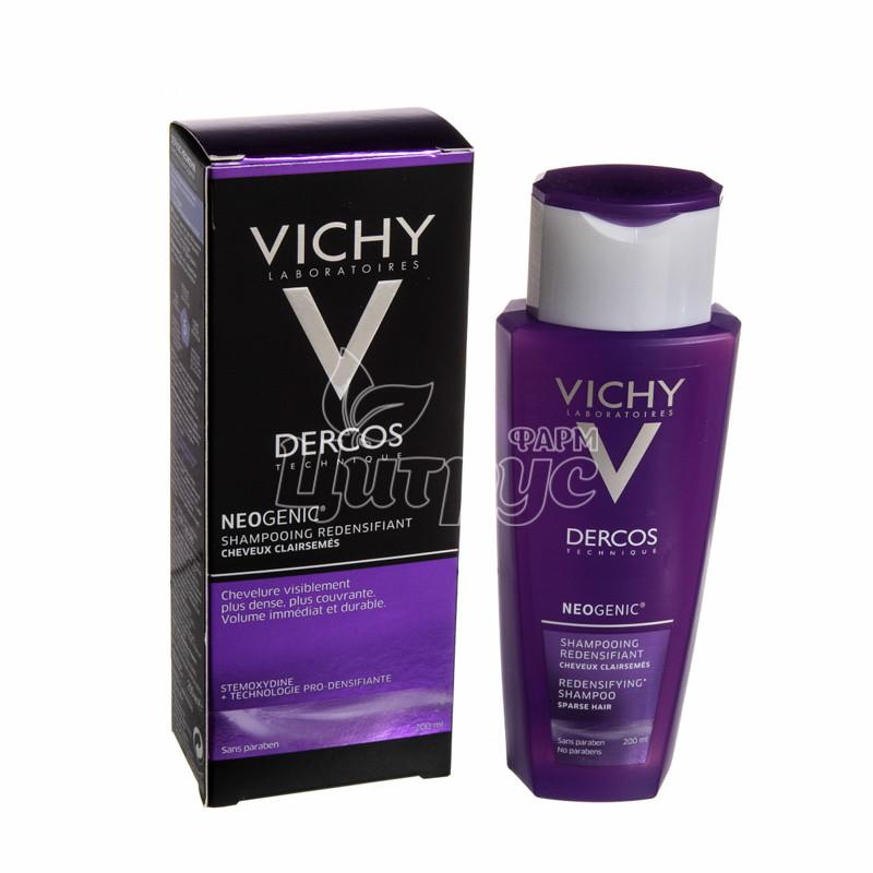фото 1-1/Виши Деркос (Vichy Dercos) Шампунь Неоженик для увелечения густоты и обьема волос со стемокседином 200 мл