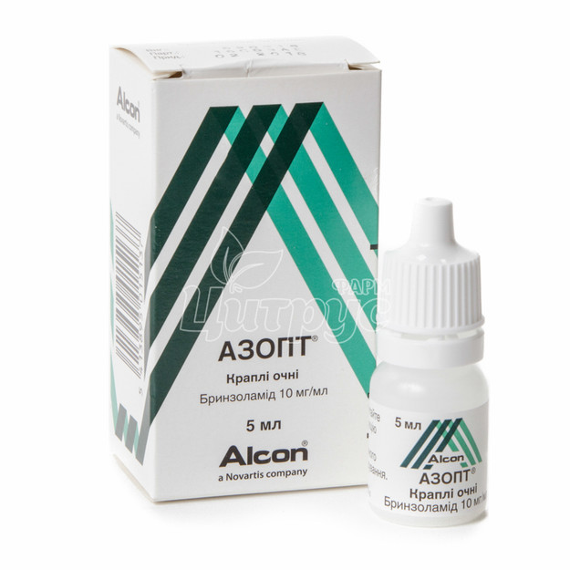 Азопт капли глазные 10 мг/мл 5 мл