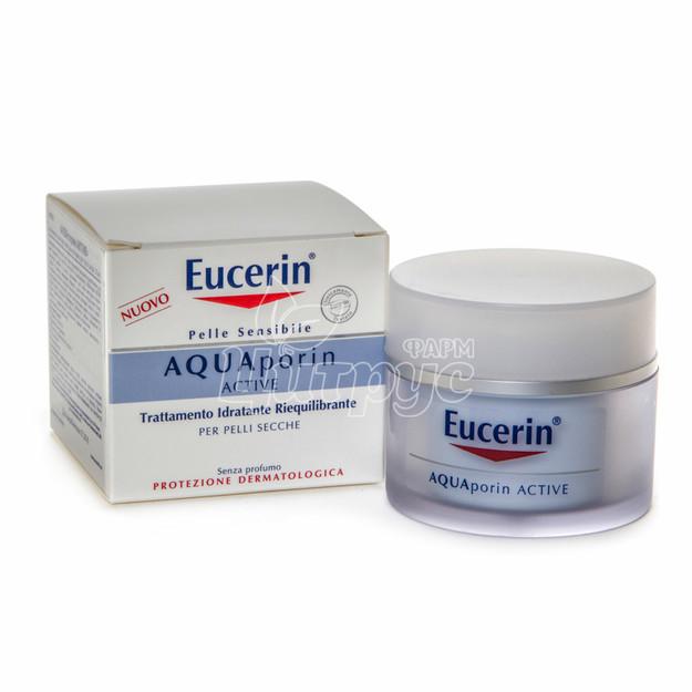 Эуцерин Крем Аквапорин (Eucerin Aquaporin) Крем дневной насыщенный увлажняющий для сухой и чувствительной кожи 50 мл