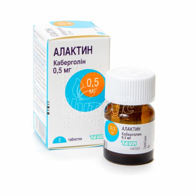 Алактин таблетки 0,5 мг 2 штуки