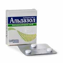 Альдазол таблетки покрытые пленочной оболочкой 400 мг 3 штуки