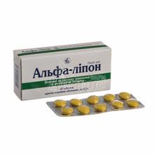 Альфа-липон таблетки покрытые оболочкой 300 мг 30 штук
