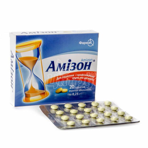 Амизон таблетки покрытые оболочкой 250 мг 20 штук