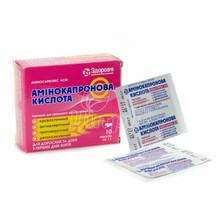 Аминокапроновая кислота порошок пакет 1 г 10 штук