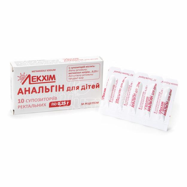 Аналгин суппозитории ректальные 250 мг 10 штук