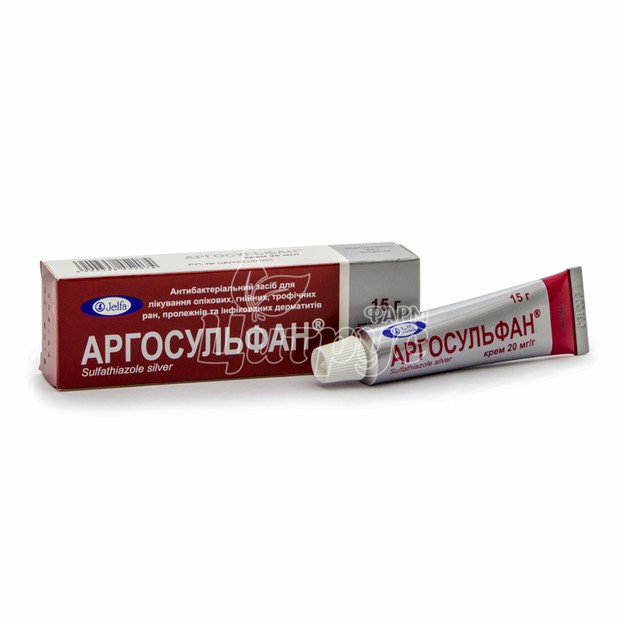 Аргосульфан крем 2% туба 15 г