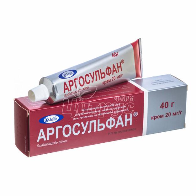 Аргосульфан крем 2% туба 40 г