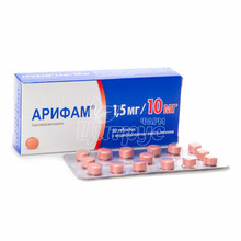 Арифам таблетки с модифицированным высвобождением 1,5 мг/10 мг 30 штук
