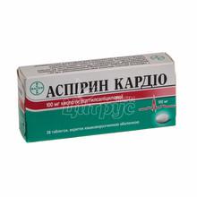 Аспирин кардио таблетки покрытые оболочкой 100 мг 28 штук