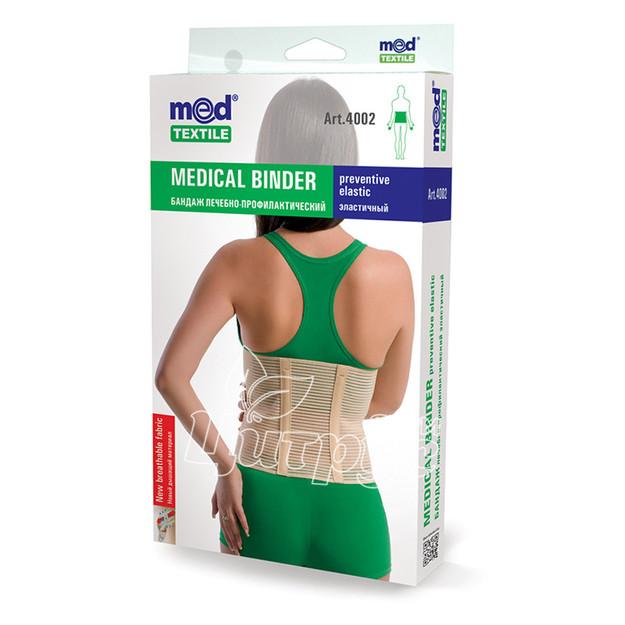 Бандаж лечебно-профилактический эластичный Медтекстиль (Medtextile) размер XL 91-100 см (4002)