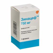 Зинацеф порошок для приготовления раствора для инъекций 750 мг 1 штука