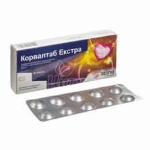 Корвалтаб Экстра таблетки покрытые оболочкой 20 штук