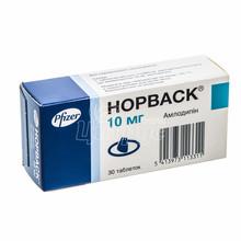 Норваск таблетки 10 мг 30 штук