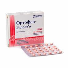 Ортофен-Здоровье таблетки покрытые оболочкой 25 мг 30 штук