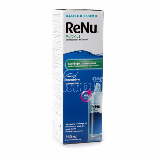 Реню (Renu) Мультиплюс (MultiPlus) Раствор для контактных линз 360 мл