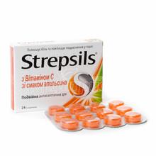 Стрепсилс с витамином C леденцы 24 штуки