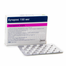 Эутирокс таблетки 150 мкг 100 штук