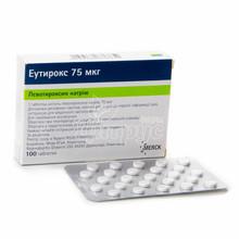 Эутирокс таблетки 75 мкг 100 штук