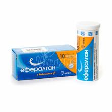 Эффералган с витамином C таблетки шипучие 330 мг/200 мг 10 штук