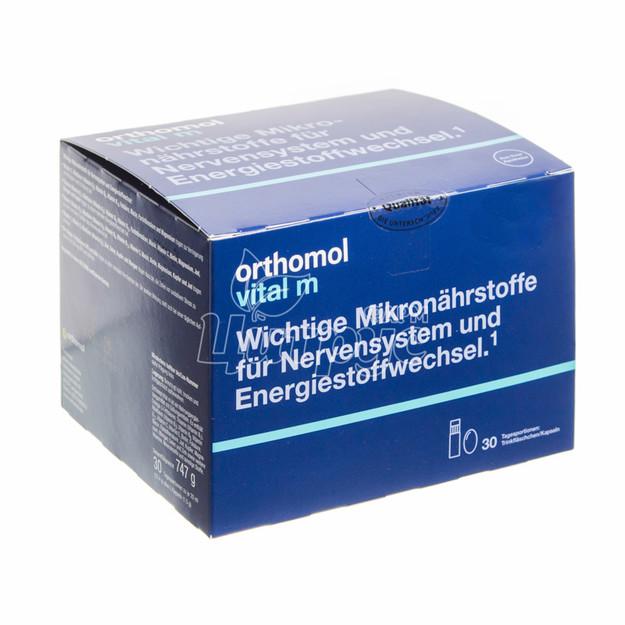 Ортомол Витал М (Orthomol Vital M) Набор для мужчин питьевой раствор + капсулы 30 штук