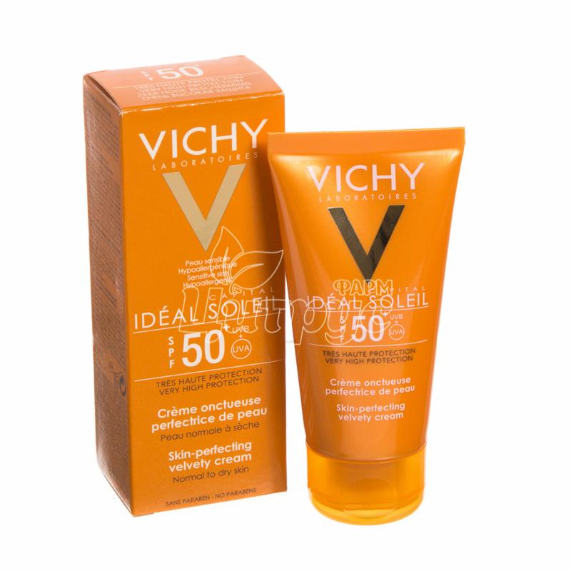 фото 1/Виши Капиталь Солей (Vichy Capital Soleil) Крем солнцезащитное увлажняющее для лица SPF 50 300 мл