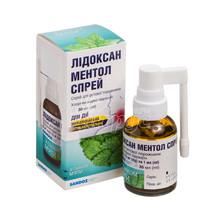 Лидоксан Ментол спрей 2 мг/0,5 мг в 1 мл 30 мл