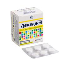 Деквадол таблетки для рассасывания лимон 30 штук