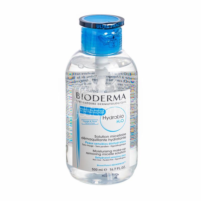 фото 1-1/Биодерма Гидрабио H2O (Bioderma Hydrabio H2O) Раствор мицеллярный для обезвоженной и чувствительной кожи 500 мл