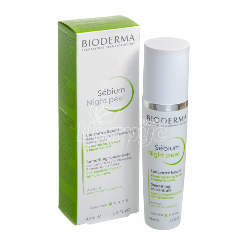 фото 1-1/Биодерма Себиум (Bioderma Sebium) Пилинг для лица ночной 40 мл