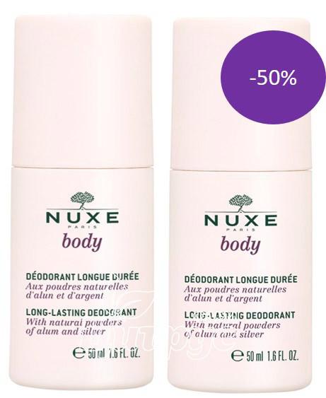 Набор Нюкс Дуо Боди (Nuxe Body) Дезодорант-антиперспирант шариковый 50 мл 2 штуки