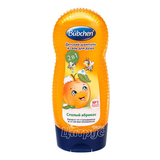 Шампунь-гель для душа детский Бюбхен (Bubchen) Для волос и тела абрикос 230 мл