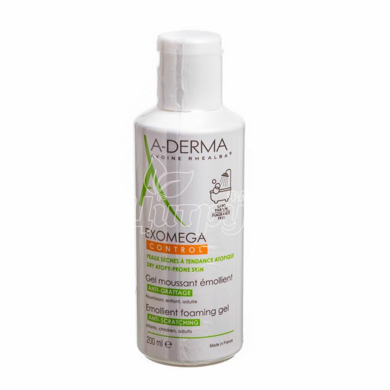 фото 1-1/А-Дерма Экзомега (A-Derma Exomega Control) Гель смягчающий для кожи лица и тела 400 мл