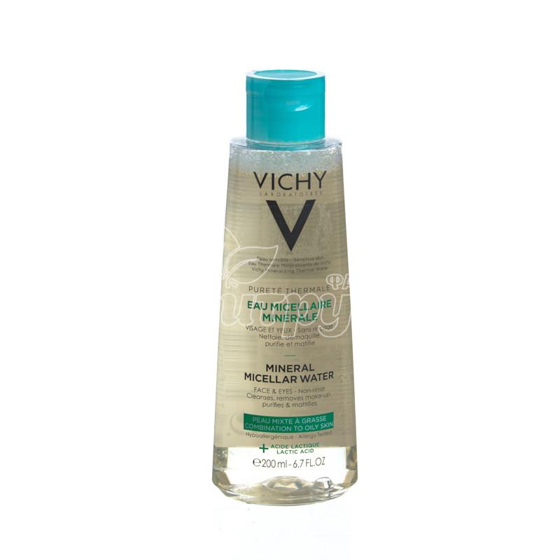 фото 1-1/Виши Пюрте Термаль (Vichy Purete Thermale) Мицеллярная вода для жирной и комбинированной кожи 200 мл