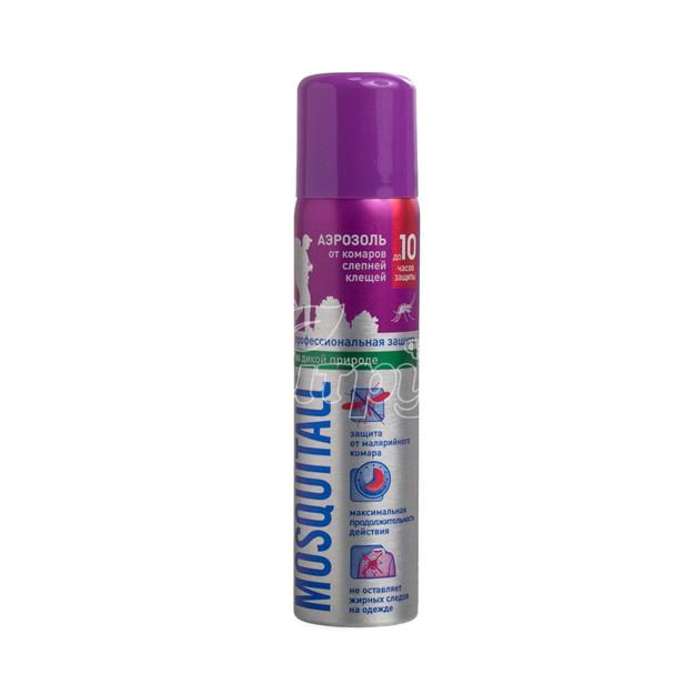 Аэрозоль Москитол (Mosquitall) Профессиональная защита от комаров и клещей 75 мл