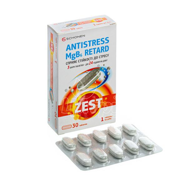 Зест (Zest) Антистресс MgB6  ретард таблетки 30 штук